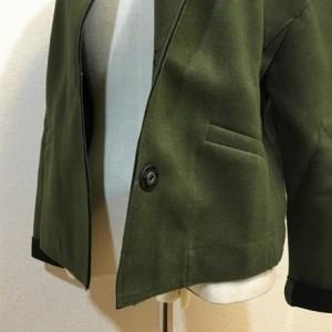 アウター ジャケット ノーカラー コート 羽織り ドロップショルダー ゆったり 春秋 通勤 オフィス 無地 シンプル カジュアル