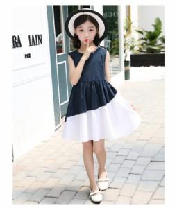cbe78be2da778 韓国こども服 女の子 可愛いスタイル ドレス ワンピース 子ども フォーマル ドレス 子供 ノースリーブ プリンセス ドレスキッズ