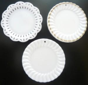 スイーツデコ用素材 ミニチュア食器 デザインプレート 「メール便対応可」
