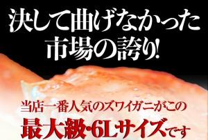 カニ かに ずわい 蟹 ロシア産 ボイルズワイガニ 6L 4肩 4人前相当 合計2kg 贈り物  大盛り 食べ放題 冷凍 送料無料