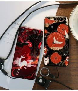 iphone6s ケース iphone6 ケース  アイフォン6sケース  スマホケース 保護カバー 背面カバー ソフト 3D浮き彫り ストラップ付き