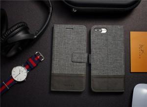 送料無料 iphone6s plus ケース iphone6 plusケース アイフォン6s プラスケース  手帳型 カード収納 ズック&PUレザーケース
