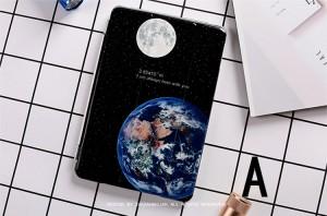 ipad mini4 ケース ipad mini4 カバー アイパッドミニ4 ケース タブレットPC 手帳型 軽量 極薄 スタンド機能付  星 月 地球 個性