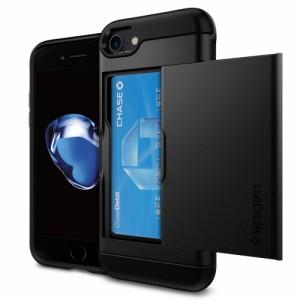 アイフォン8 iphone8 iPhone7 ケース spigen スリム・アーマーCS ブラック IC カード収納 米軍MIL規格取得 Slim Armor CS Black 042CS204