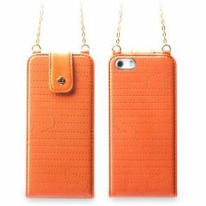 【送料無料】 zenus iphone5s/5 ケース Masstige Quilt Feminine Folder フォルダータイプ オレンジ Z2482i5S【スマホ・タブレットのアク