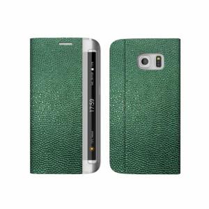 送料無料 Galaxy S6 Edge SC-04G / SCV31 レザー ケース zenus Platinum Diary グリーン 手帳型 Z6040GS6E /在庫あり/ ギャラクシー エ