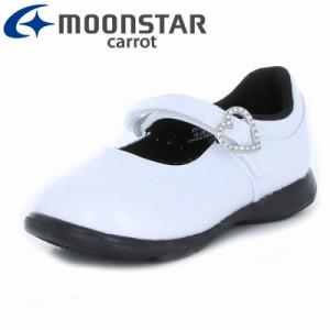 4c83068a4ce46 ムーンスター キャロット  セール  子供靴 フォーマルシューズ CR C2093 ホワイト フォーマルシューズ
