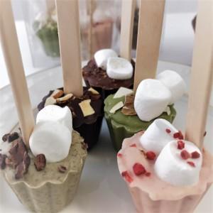 【プチギフト最適】スティックチョコ3本ケースセット/本物カカオ豆からつくった香り豊かなチョコ/甘さ控えめ大人味