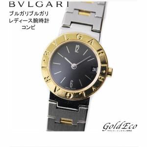 e9b4b0ed8852 【中古】BVLGARI ブルガリ ブルガリブルガリ 腕時計 ウォッチ コンビ ブラック文字盤 シルバー ステンレス×