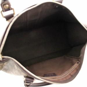 PVC ベージュ ハンドバッグ 190259 レザー GGプラス ミニボストン 【中古】 グッチ ユニセックス ブラウン GUCCI