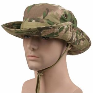 米軍ブーニーハット サファリハット ジャングルハット つば広 迷彩 帽子 日除け 釣り 登山 アウトドア用 コスプレ (マルチカム)
