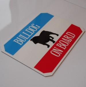 ブルドッグ印 化粧品看板風カーマグネット ON BOARD オンボード