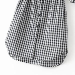 可愛いチェック柄シャツワンピース☆ベルトでウエストマーク ガーリーな着こなしに c0114