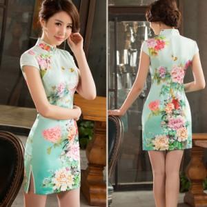 8108ec0e78692  ミント ショート ミニ セクシー チャイナドレス レディース ワンピース コスプレ コスチューム ファッション 衣装 中国ドレス