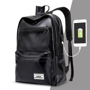 e99fc791c17f リュックサック メンズ レディース 男女兼用バッグ USBリュック PU革バッグ レザーパック 大容量