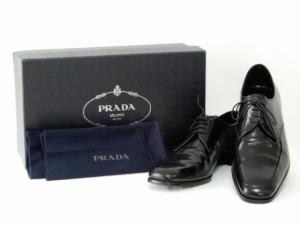 PRADA プラダ 革靴 サイズ8.5 黒  番号T703