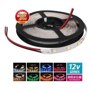 薄型12V 非防水 LEDテープライト 1チップ 500cm 両端子 [白ベース]