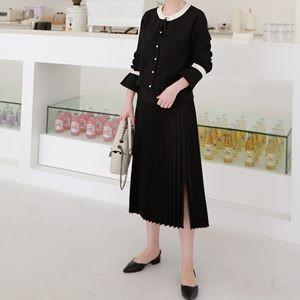 ブラウス レディース 韓国製 長袖 無地 配色 とろみ ミセス 30代 40代 50代 ファッション チュニック 2L 13号 シャツ 白 大きいサイズ