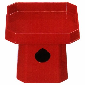 神具 折敷 | 四角三宝 樹脂製 6.0寸 | 奥行170×幅170×高140mm 内箱(袋) 奥行186×幅186×高138m
