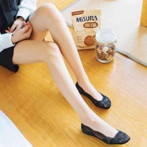 総レースソックス 浅履きソックス 靴下 レディース 滑り止め 脱げにくい 快適な履き心地 通気性良い 上品 お洒落 可愛い 20