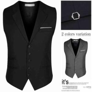フォーマルベスト礼服 薄手オフィス スーツベスト 結婚式  ビジネス通勤 紳士 チョッキ二次会 イベント