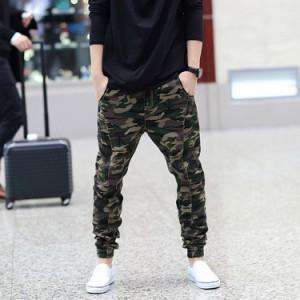 メンズ ジョガーアクティブパンツ 迷彩 カモフラージュ アメカジ ボトム 大きいサイズ サルエルパンツ ストリート アメカジ