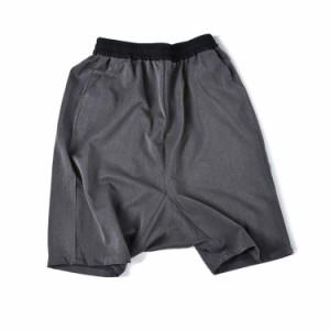 ストリート系 サルエルパンツ ショートパンツ 5分丈 リラックス パンツ ワイドパンツ ハーフパンツ イージーパンツ メンズ
