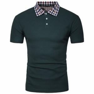 テニスウェア メンズ ポロシャツ 半袖 チェック