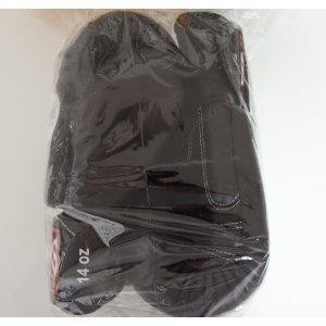新TWINS ツインズ 本革製キックボクシング グローブ 黒 14オンス