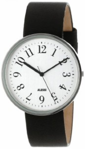 """""""〇〇(メンズ腕時計。) Alessi Men's AL6003 Record Stainless Steel Case Silver Tone Dial Designed by Achille Castiglioni Watch ・"""""""