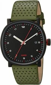 """""""〇〇(メンズ腕時計。) Alessi Men's AL5042 Tic15 Analog Display Analog Quartz Green Watch 正規輸入品"""""""