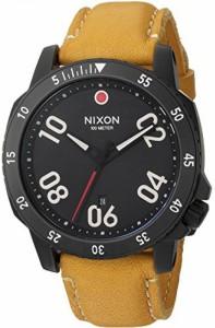 """""""〇〇(メンズ腕時計。) Nixon Men's 'Ranger' Quartz Metal and Leather Automatic Watch, Color:Orange (Model: A5082448-00) 正規輸・"""""""