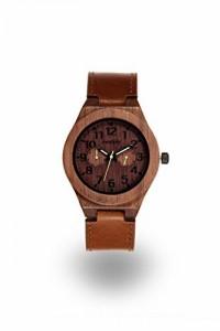 """""""〇〇(メンズ腕時計。) Modply Mens Wood Watch Made with Natural Walnut Wood and a Carmel Leather Band - Premium Groomsmen Gift """""""