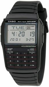 60e02ab191 カシオ男性のDBC32-1Aデータバンクブラックデジタル時計