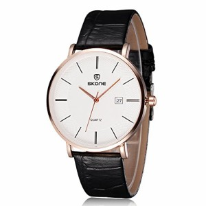 9597cba8e193 FENKOO流行時計(流行カップル時計革クォーツ腕時計流行女性Mensカップル時計贅沢