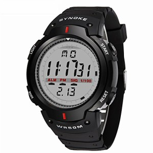 d9055eee73 男性のデジタルスポーツ時計LEDスクリーン腕時計アラーム防水服デジタルアウトドア腕時計の画像