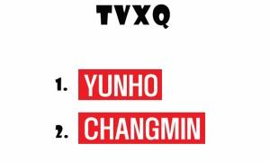 K-POP アイドルの名前シール! 東方神起 / TVXQ ネームプレート ★韓流 韓国商品 韓流ショップ 韓