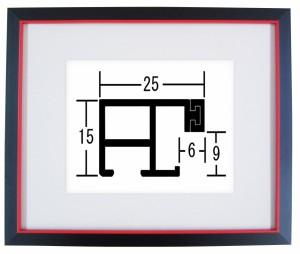 額縁 デッサン額縁 アートフレーム アルミ製 6762 (フラット25) インチサイズ