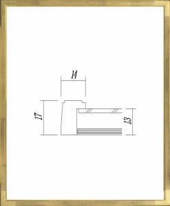 額縁 デッサン額縁 アートフレーム 木製 7513 三三サイズ