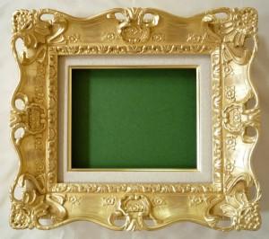油絵額縁 木製フレーム アクリル付 7805 サイズF15号