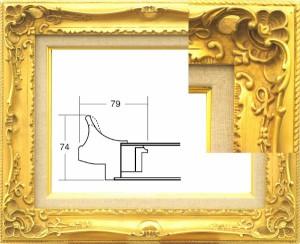 油彩額 油絵額縁 木製 アクリル付 7812 サイズF10号