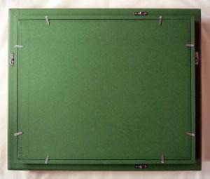 油彩額 油絵額縁 木製 アクリル付 7821 サイズF10号