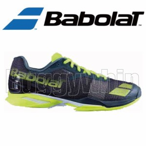 JET CLAY OMNI M GYL ジェットクレーオムニ BabolaT バボラ メンズ テニスシューズ クレーオムニ グレー×イエロー BAS16631