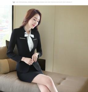 レディーススーツカジュアルオフィス 事務服 紳士服 通勤 OL 大きいサイズ 小さいサイズビジネス細身スーツ ワンピーススーツ