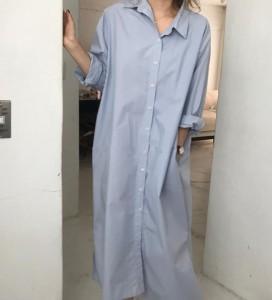 シャツ レディース ブラウス チュニック トップス ロングシャツ シャツワンピース 長袖 彼シャツ 春新作 ワイシャツ 綿無地