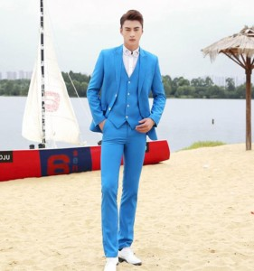3358ba6c90a68 メンズファッション 3点セット メンズスーツ ビジネス セットアップ フォーマルスーツ リクルートスーツ 青