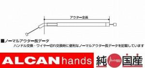 チョークワイヤー ホーネット HORNET 250 MC31 100mmロング JB114CH10 メール便無料 アルキャンハンズ