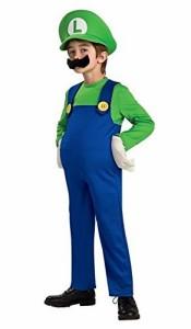 スーパーマリオ ルイージ キッズコスチューム 男女共用 身長130cm140cm
