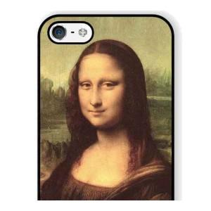 【送料無料】 スマホケース モナ・リザ 絵画 アートケース 保護フィルム付 iPhone Galaxy iPod iPad