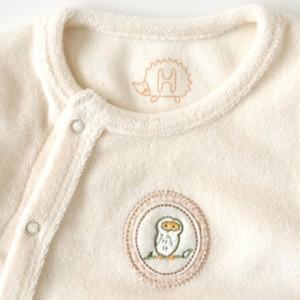 [メール便可] Hoppetta Plus ホッペッタ プラス オーガニックコットン パイル2wayドレス きなり 〜Hoppetta*の前開きで、赤ちゃんにも着